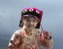 藏族小姑娘