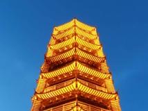 深圳红花山塔近观--拍摄红花山公园
