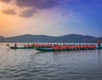 龙泉湖上龙舟赛