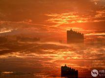 龙泉湖畔夕阳美.2【学习多重曝光拍照】