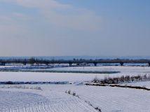 雪后黄河滩