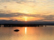 河南丹江湿地第二届生态保护摄影大赛;霞光帆影
