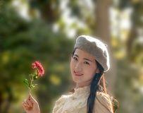 体育摄影部:光影中国网公园菊花人像拍摄   三