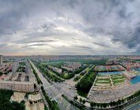 俯瞰郑州莲花街(手机拍摄)