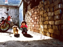 信阳柳林老街的居民
