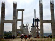 建设中的张桑高速