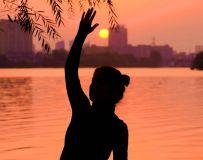 夕阳-白河-瑜伽(17)