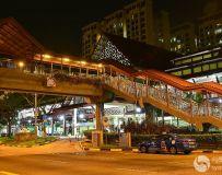 新加坡街头夜景