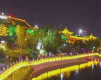 美丽夜景温良河