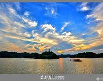 小平故里,翠湖夕阳