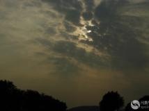 """宾得星165拍到的""""上帝之光"""""""