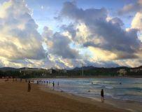夕阳映海滩4