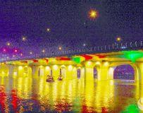 夜拍仲景桥