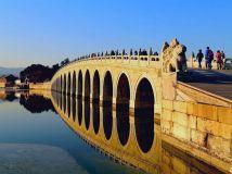 美丽的十七孔古桥---颐和园