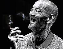 石头村的老人