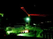【南水北调中线工程建设全国摄影大赛】建设中的南水北调渠首夜色