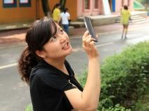 街拍之  拍照美女
