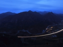 """2014第1期月赛-""""夜色多美好""""-大年初七的广陕高速车水马龙"""