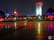 油田中心广场美的夜色