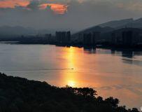 龙泉湖落日