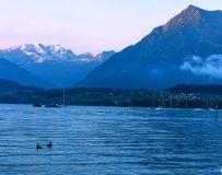 阿尔卑斯山晨光