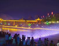 温良河音乐喷泉