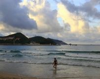夕阳映海滩1