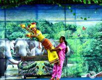 西双版纳多彩的佤族甩发舞和木鼓舞表演