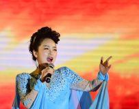 花海水乡开幕式上的女歌手