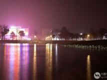新型翠湖公园夜景一