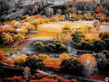 晚秋----牧归图。