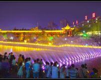 音乐喷泉夜景美