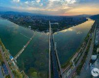 西峡彩虹桥日出