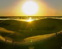 夕阳耀砂丘