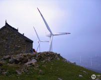 楚长城山顶看风车