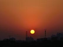 海珠湖日落