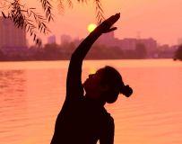 夕阳-白河-瑜伽(18)