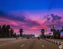 暮色中的南阳大桥