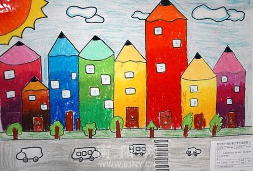 小学生科幻画畅想低碳环保漫画热血排名图片